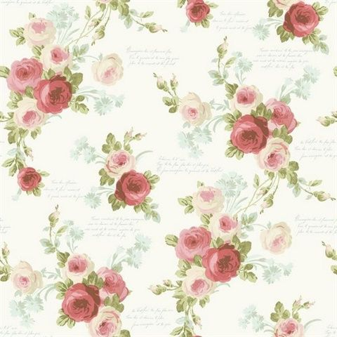 MH1525 Heirloom Rose Magnolia homes, Rose wallpaper