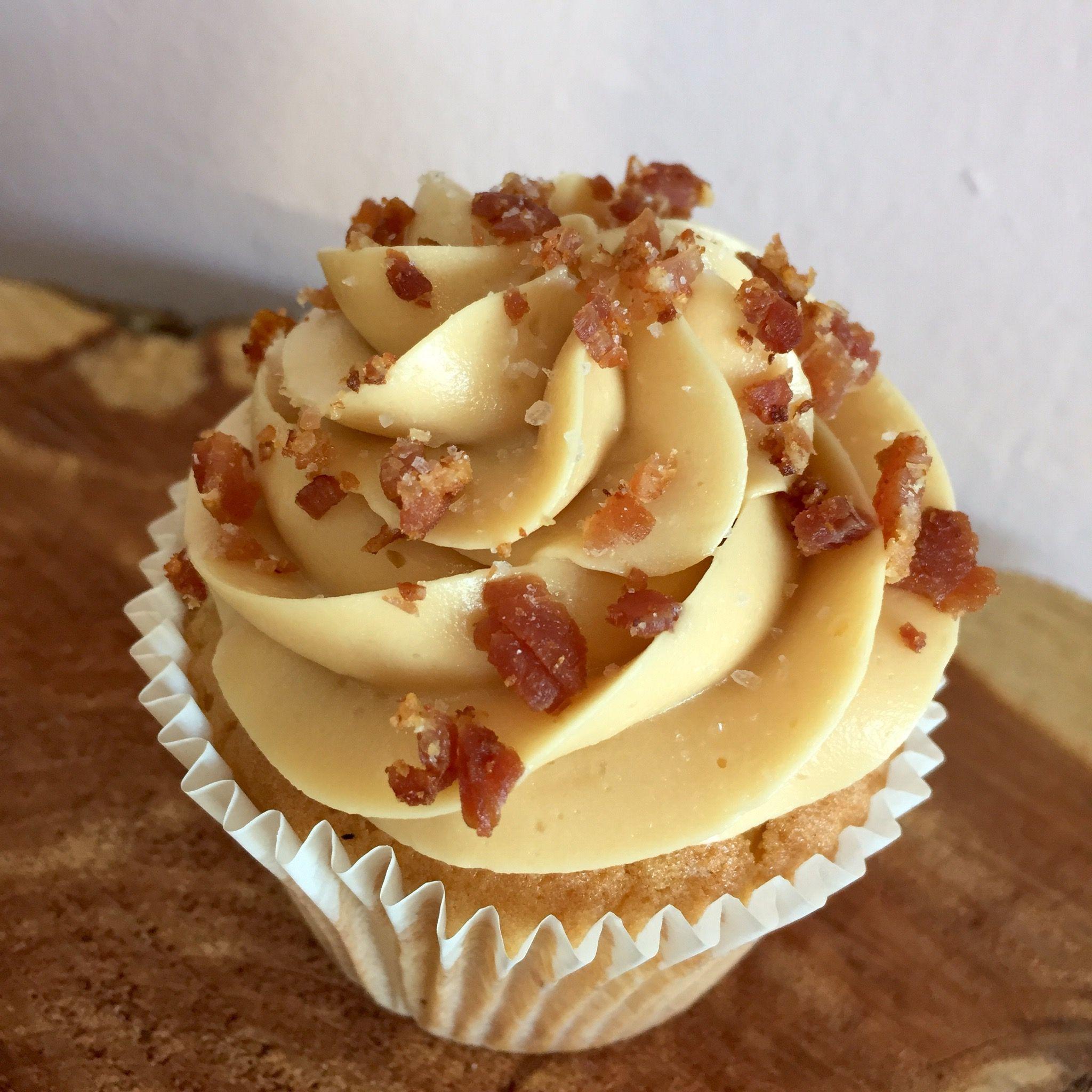 Salted Caramel Bacon Cupcake Tastries Bakery Bakersfield Ca