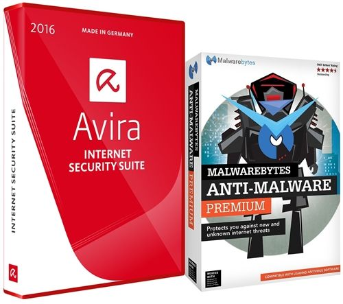 Avira Internet Security Suite 2016 e Malwarebytes
