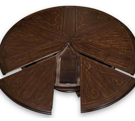 Volare Expandable Round Dining Table