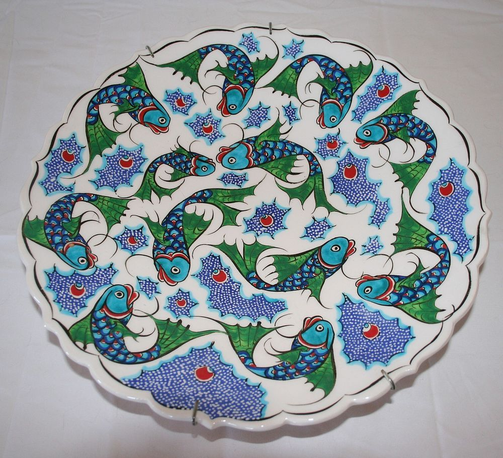 ISTANBUL TURKEY TURKISH CHINA PLATTER FISH CARP DESIGN  sc 1 st  Pinterest : turkish tableware - pezcame.com