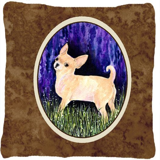 Starry Night Chihuahua Decorative Canvas Fabric Pillow