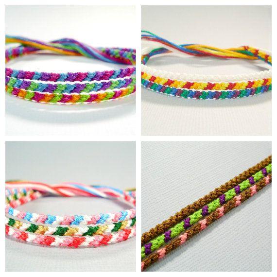 Garantie de satisfaction à 100% magasiner pour l'original comment trouver Custom Set of Three Thin Friendship Bracelets by ...