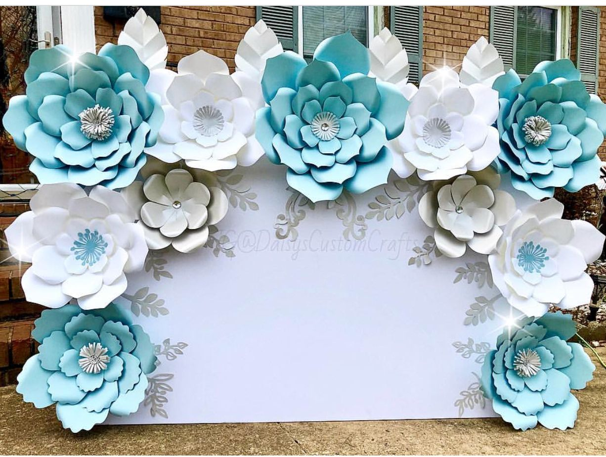Table Top Backdrop Wall Backdrop Party Backdrop Paper Flowers