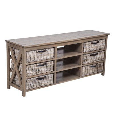 Gracie Oaks Caskey Solid Wood Tv Stand For Tvs Up To 65 Inches