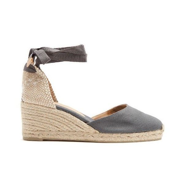 3835d9a458e Castañer Carina canvas wedge espadrilles ( 85) ❤ liked on Polyvore  featuring shoes