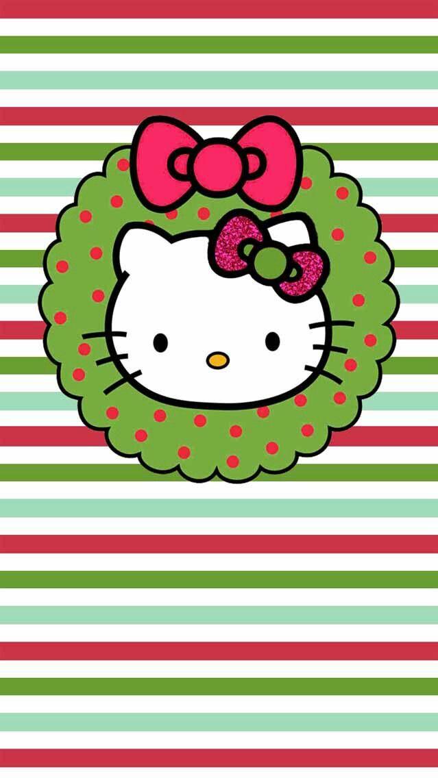 Iphone Wall Christmas Tjn Hello Kitty Wallpaper Hello Kitty Christmas Hello Kitty Pictures