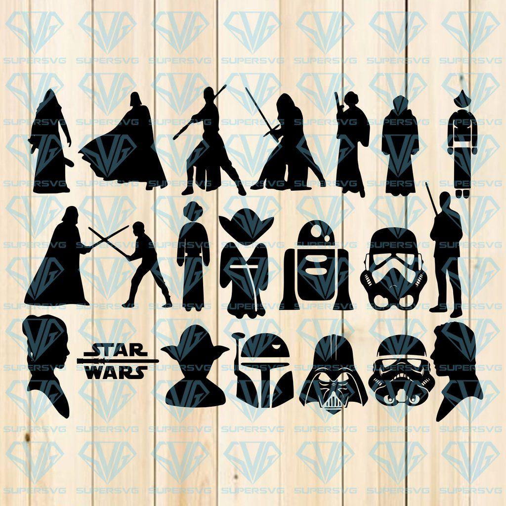 20 Star Wars, Star Wars Bundle SVG Files For Silhouette