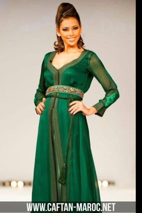 Caftan femme vert  7259b64b2a3