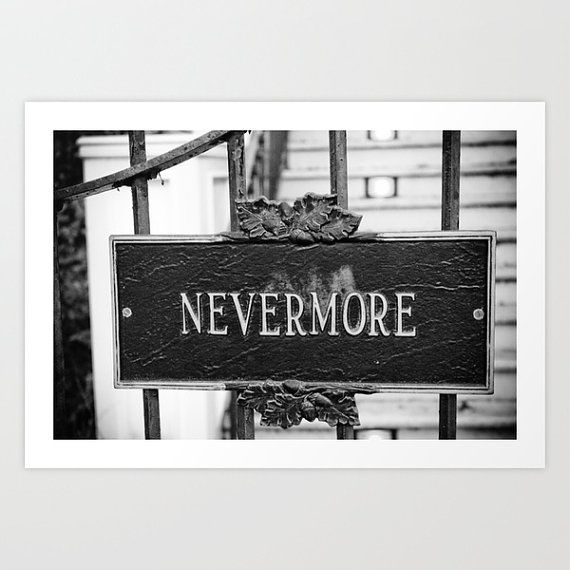 Nevermore Photograph - New Orleans Street Sign Art, Edgar Allan Poe