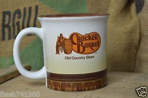 CRACKER BARREL OVER SIZED COFFEE MUG CUP ROCKING CHAIR OLD COUNTRY STORE USED