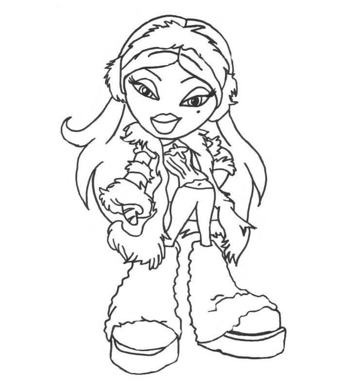 Merveilleux Bratz Colouring Pages Cloe