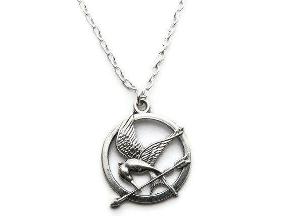 Hunger games necklace mockingjay arrow katniss by lunamagicae hunger games necklace mockingjay arrow katniss pendant last one aloadofball Gallery