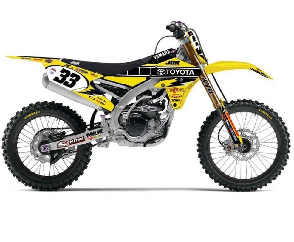 2014 JGR Yamaha Team Complete RETRO Graphic Kit W/Your name & number  motocross #FACTORYEFFEX