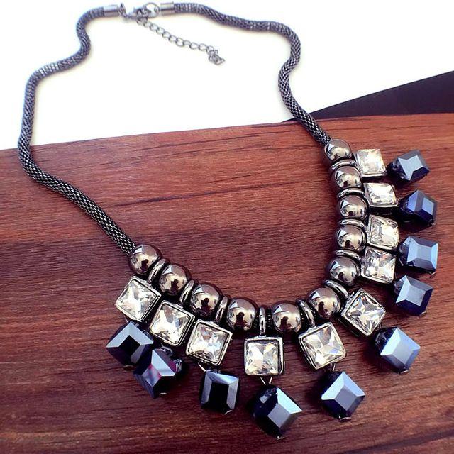 Móda osobnosť kryštál náhrdelník reťazec krátky dizajnové doplnky náhrdelník žena dekorácie vyhlásenie náhrdelník