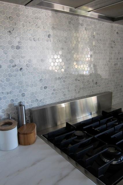 Hexagon Marble Backsplash Modern Houston Kitchen Marble Backsplash Designs Tile Backsplash