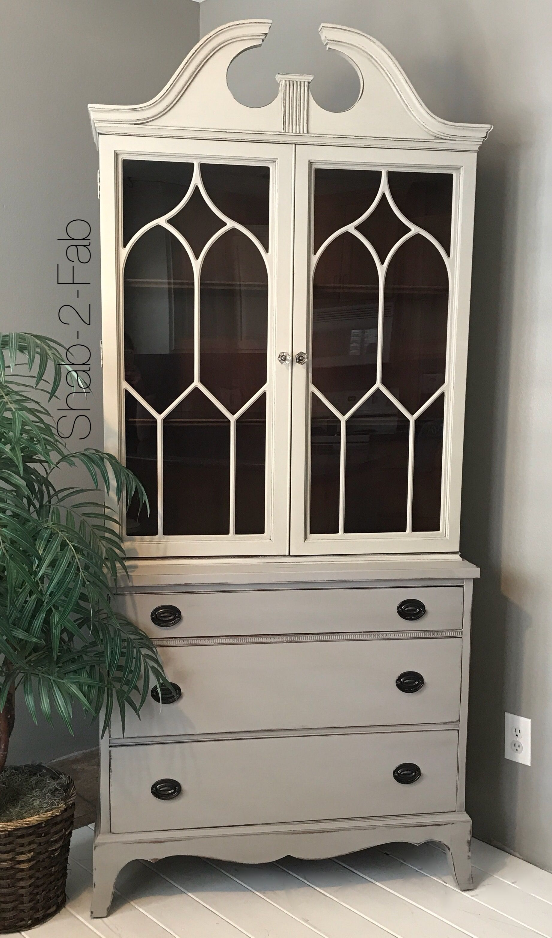 Two Toned China Cabinet guest post