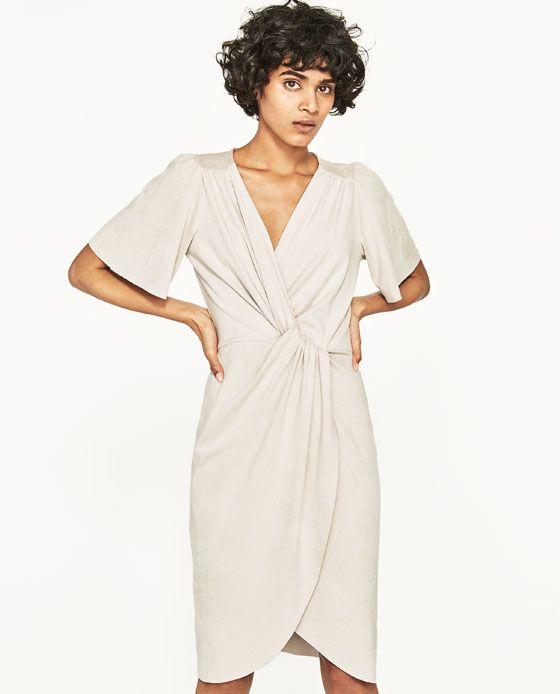 imagen 3 de vestido nudo delantero de zara | oufits | pinterest