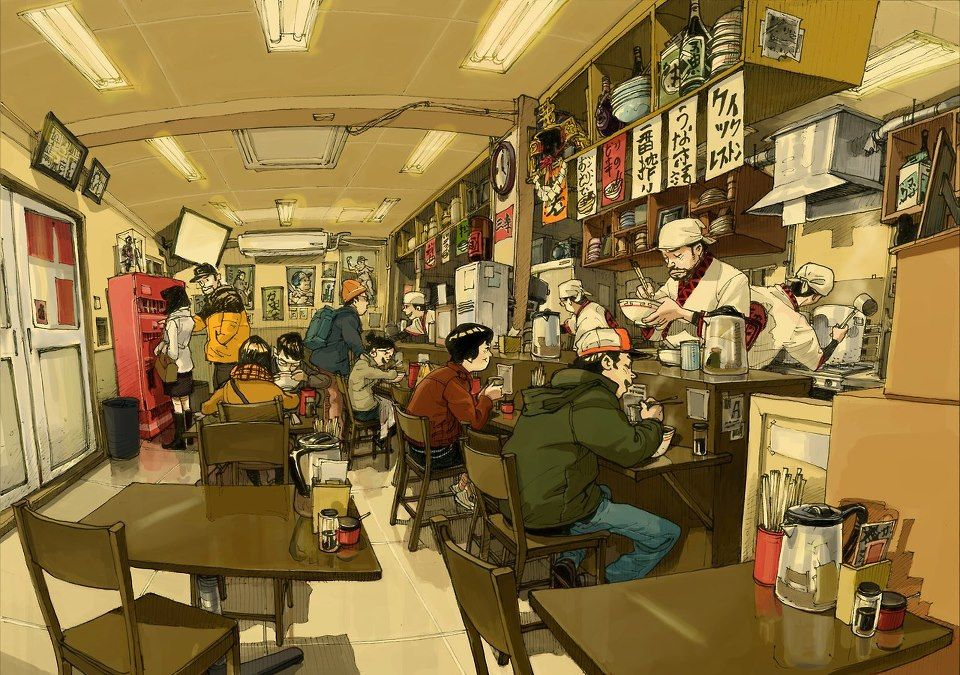 """Dining Room"" - The Art of Kim Jung Gi* • Blog/Website   (www.kimjunggi.net) • (www.kimjunggius.com) Online Store   (www.kimjunggi.net/shop/)"