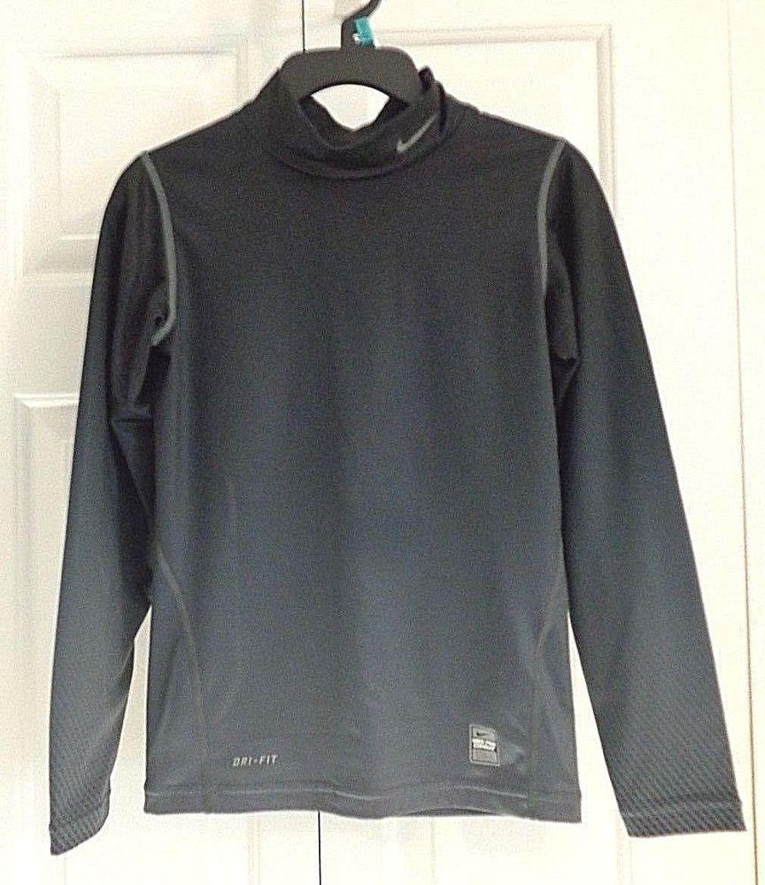 Nike Pro Combat Boys Girls Long Sleeve Compression Mock Neck Top Gray Medium M Fashion Clothing Shoes A Long Sleeve Tshirt Men Long Sleeve Shirts Mens Tops [ 1000 x 864 Pixel ]