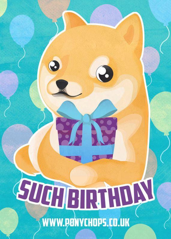718292cb2d988485385a0f9cb4cfa175 wow such birthday doge greetings card by ponychopsshop on etsy