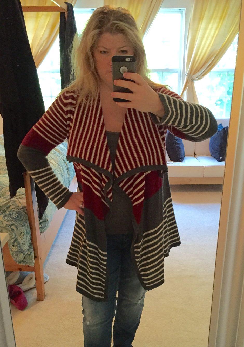 Mystree striped jersey maxi dress