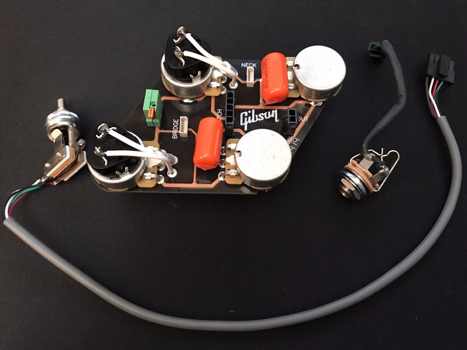 gibson les paul quick connect wiring harness gibson and epiphone rh pinterest es les paul 50s wiring diagram les paul mounting plate [ 1600 x 1200 Pixel ]