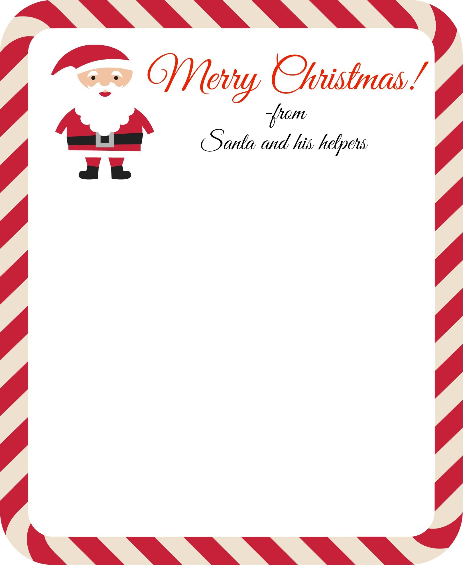 Letter From Santa Free Printable By On The Way Home  Christmas Is