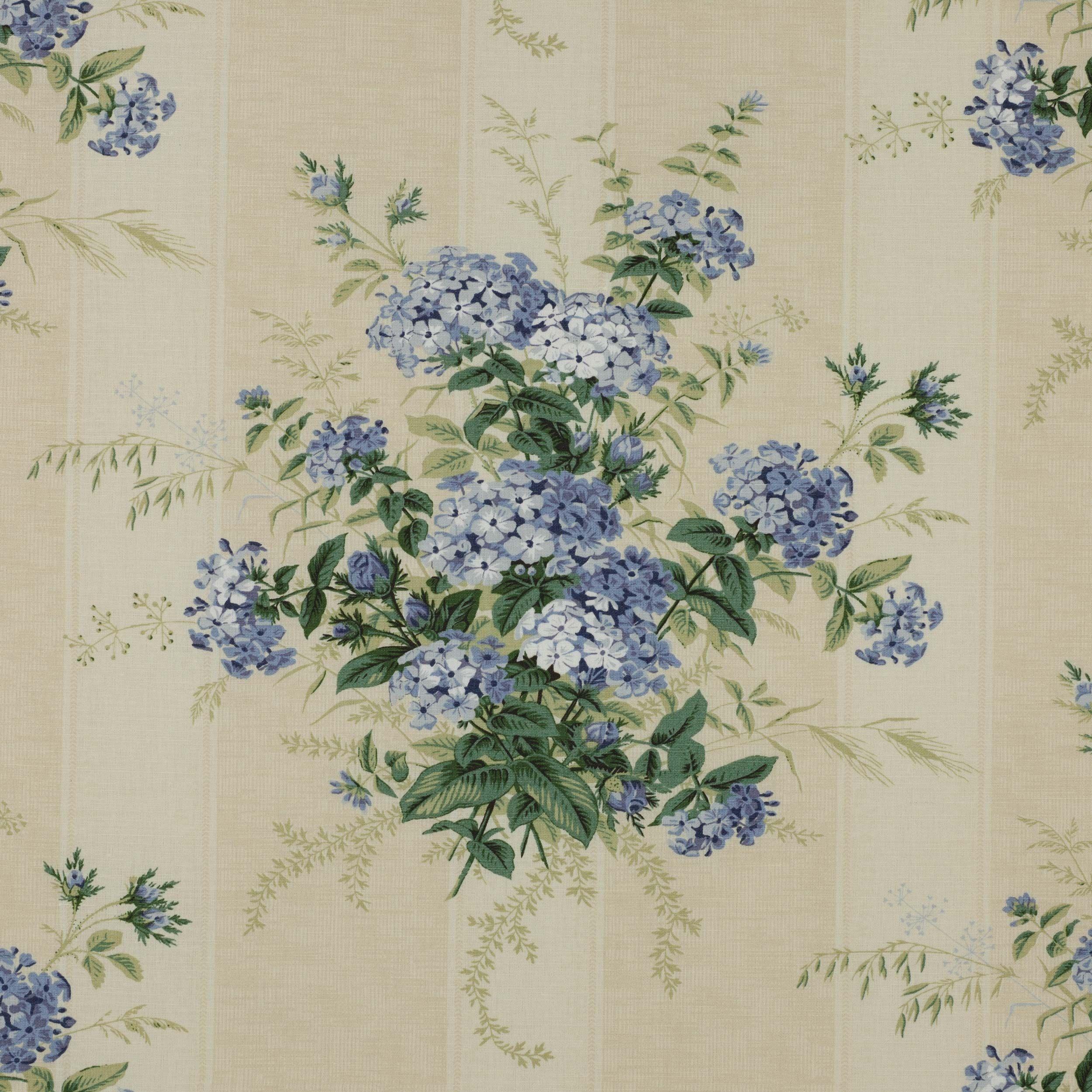 Plumbago Bouquet Union Fabric - Cowtan Design Library