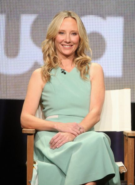 Anne Heche speaks onstage at the 'Dig' panel during the NBCUniversal USA Network portion of the 2014 Summer Television Critics Association at The Beverly Hilton Hotel on July 14, 2014 in Beverly Hills, California