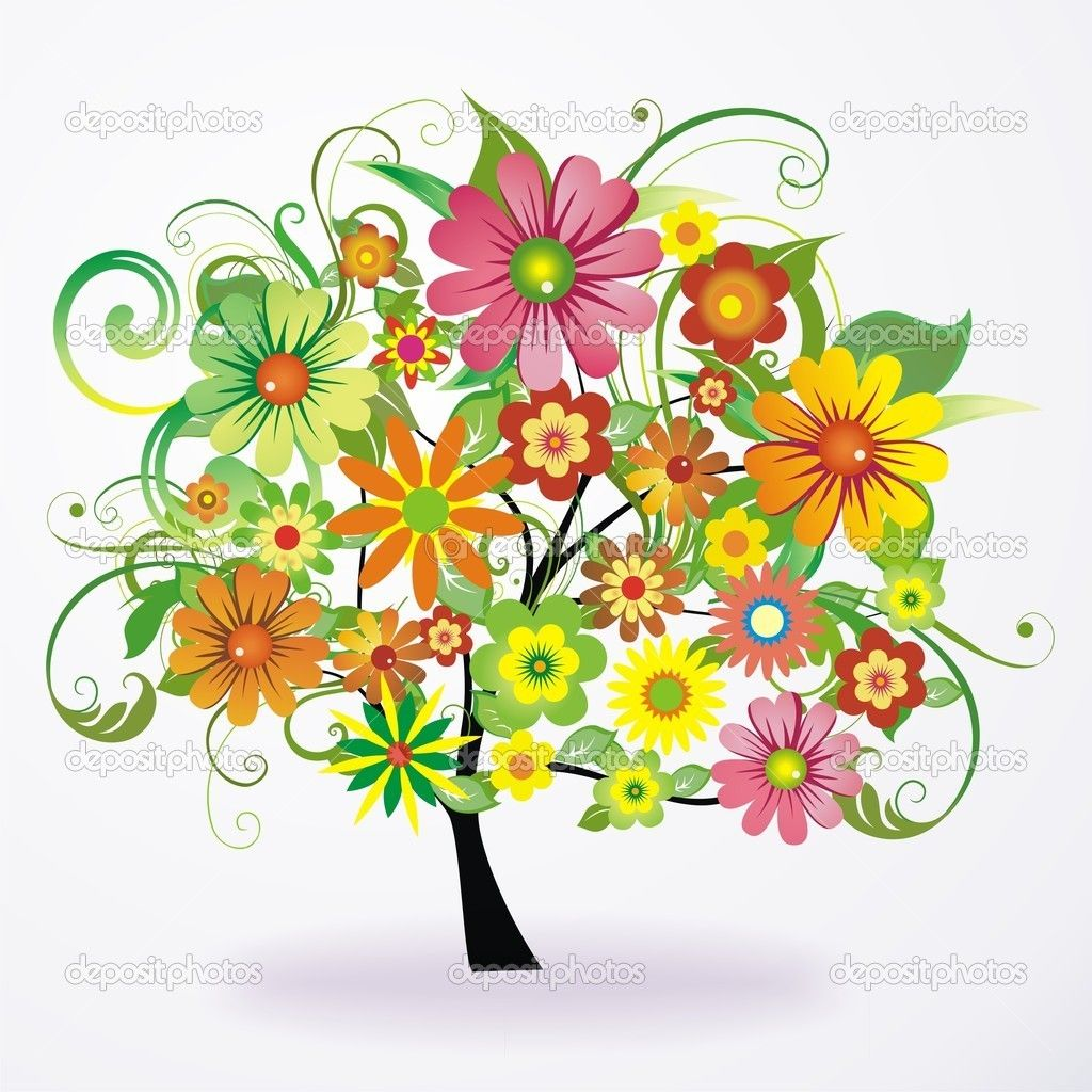 depositphotos_4344385-Vector-abstract-colorful-tree--from-flowers ...
