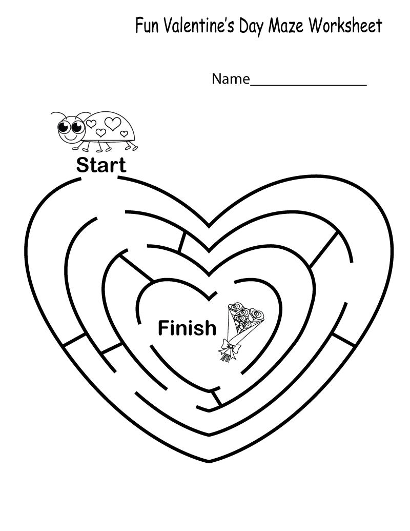 Fun Printable Worksheets Kindergarten Kindergarten Worksheets Maze Worksheet Word Problem Worksheets [ 1035 x 800 Pixel ]