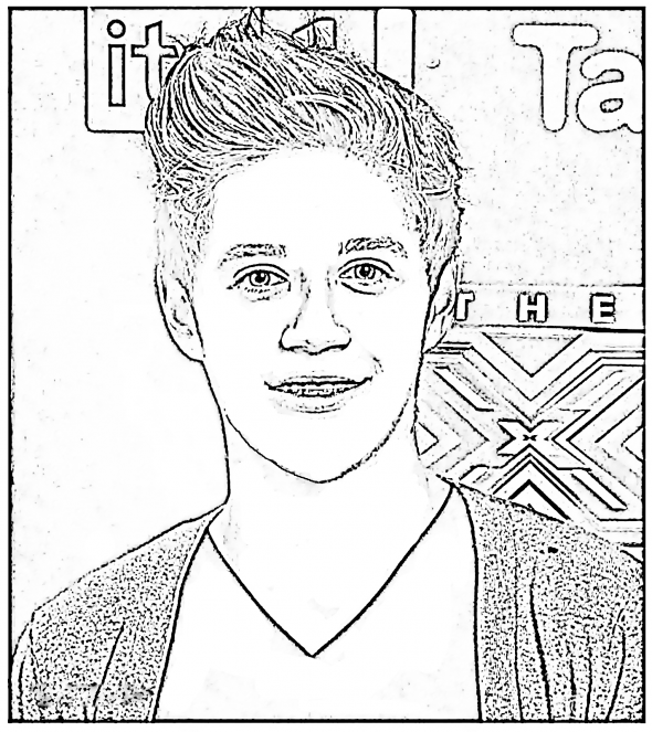 one direction coloring pages niall horan one direction