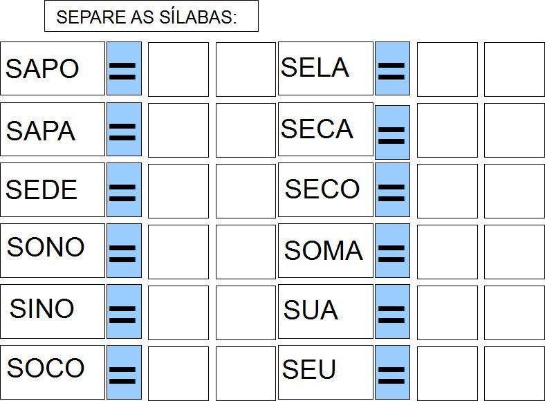 Inclusao Cartilha Adaptada Letra S Formacao De Palavras