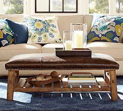 Strange Caden Leather Square Ottoman Family Room Sofa Furniture Camellatalisay Diy Chair Ideas Camellatalisaycom