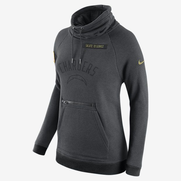 Nike Womens NFL Chargers Salute To Service Rally Funnel Neck Pullover Med    XL  Nike  LosAngelesChargers 222d7b6aa