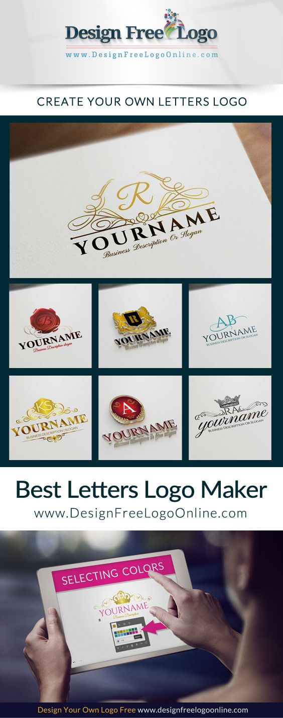 Create A Logo Online With Our Free Letters Logo Maker And 1000s Of