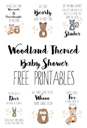 picture about Free Printable Woodland Baby Shower Invitations named Woodland Boy or girl Shower Absolutely free Printables little one shower guidelines