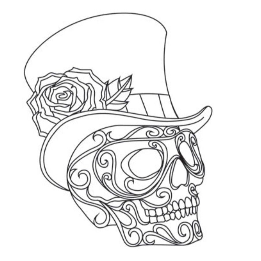 Pin by phil on 3d in 2020 Skull coloring pages