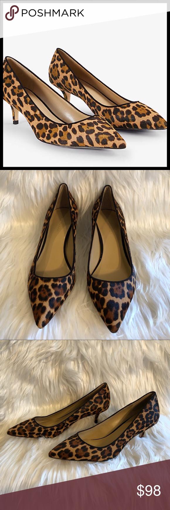 """d9a828e2f6b ANN TAYLOR Calf Hair Leopard Print Pumps NWOB ANN TAYLOR """"Reece"""" Calf"""