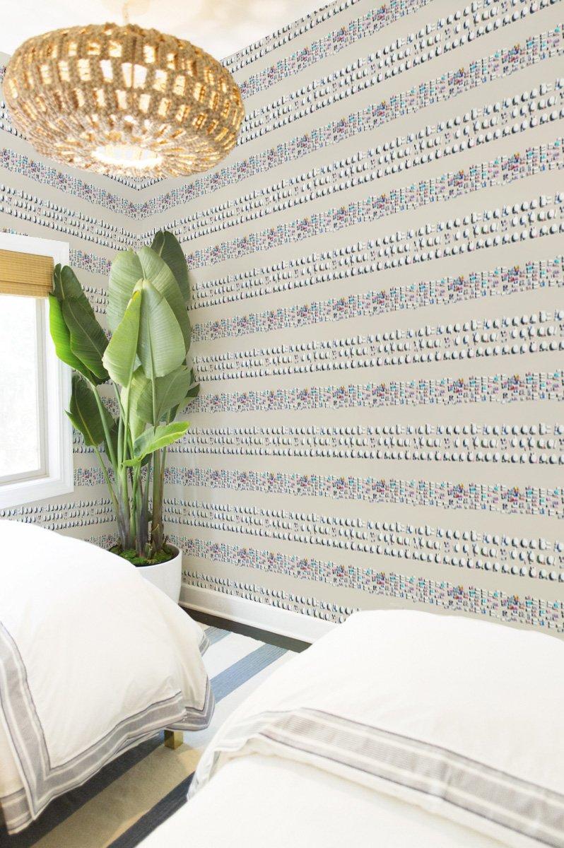 Riviera stripe gray malin wallpaper products pinterest products