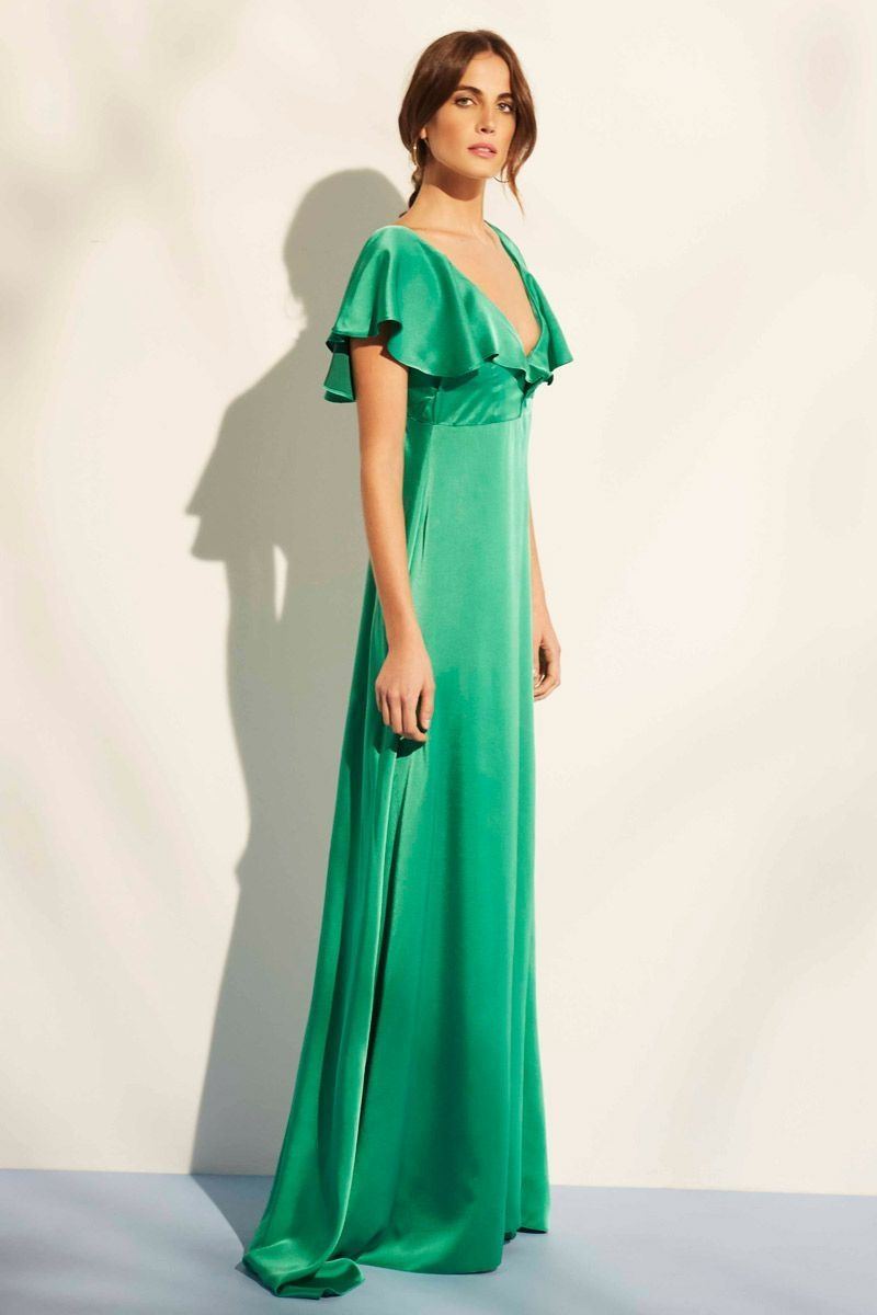 Vestido Verde Satén Niza | Pinterest | Vestidos, Gowns and Beautiful ...