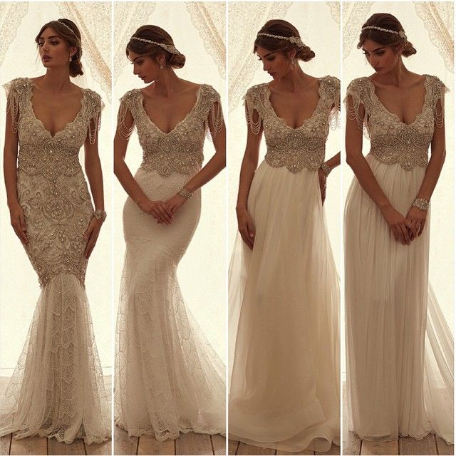Anna Campbell On Instagram Which Sierra Dress Is Your Favourite From Left To Right 1 Fit Embellished Wedding Dress Wedding Gown Accessories Wedding Dresses