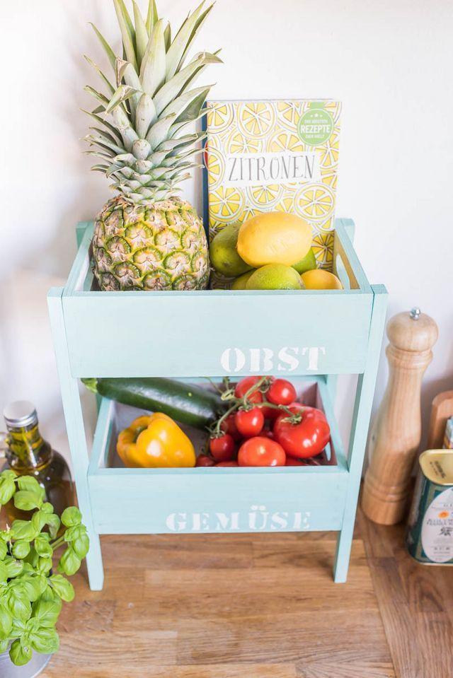 diy  etagere für obst und gemüse für die küche leelah