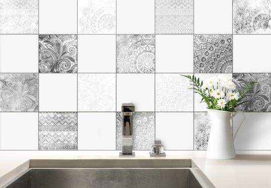 Adesivi murali adesivi per piastrelle bohémien piastrelle