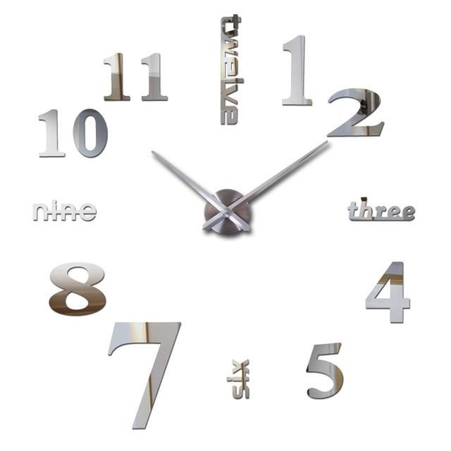 Photo of Olana Wall Clock 27-47in – Silver / 37inch(3D)