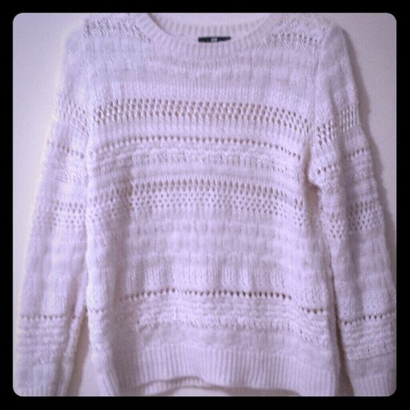 Sweater shirt Cute cream colored sweater. Looks adorable with a flannel under it. H&M Sweaters Crew & Scoop Necks