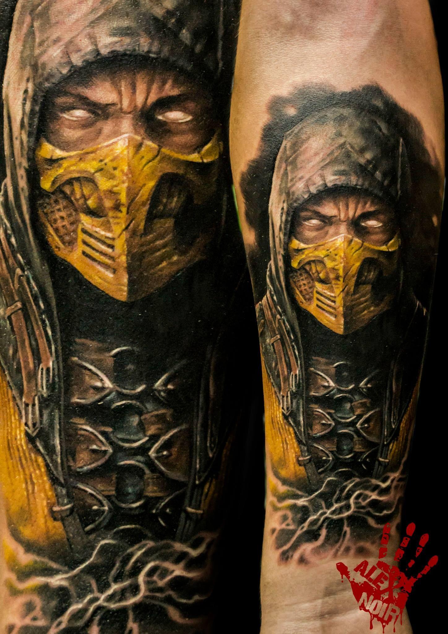 Scorpion Mortal Kombat Mortal Kombat Tattoo Scorpion Tattoo Scorpion Mortal Kombat