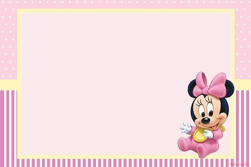 Kit De Minnie Baby Para Decorar Fiesta Pintura Niños