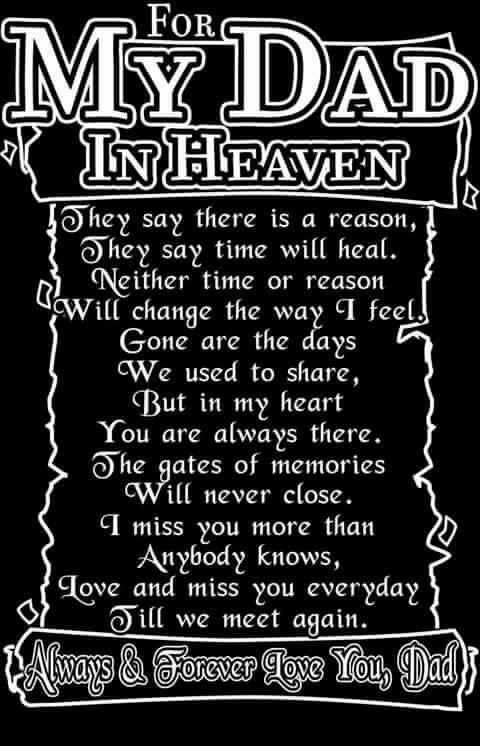 My Dad In Heaven | IN LOVING MEMORY OF MY DAD | Pinterest | Dads, Heavens  And Grief
